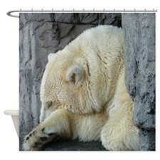 Central Park Zoo Polar Bear Shower Curtain
