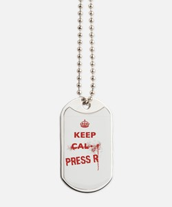 Funny Keep calm and reload Dog Tags