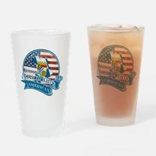 Proud Bavarian American Drinking Glass