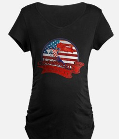Proud Croatian American Maternity T-Shirt