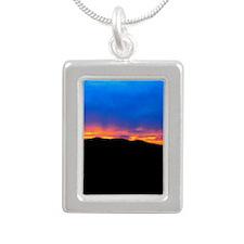 Black Hills Sunset Silver Portrait Necklace