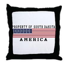 Property of South Dakota Throw Pillow