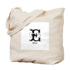 Elise: Fancy Monogram Tote Bag