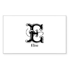 Elise: Fancy Monogram Rectangle Decal