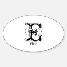 Elise: Fancy Monogram Oval Decal