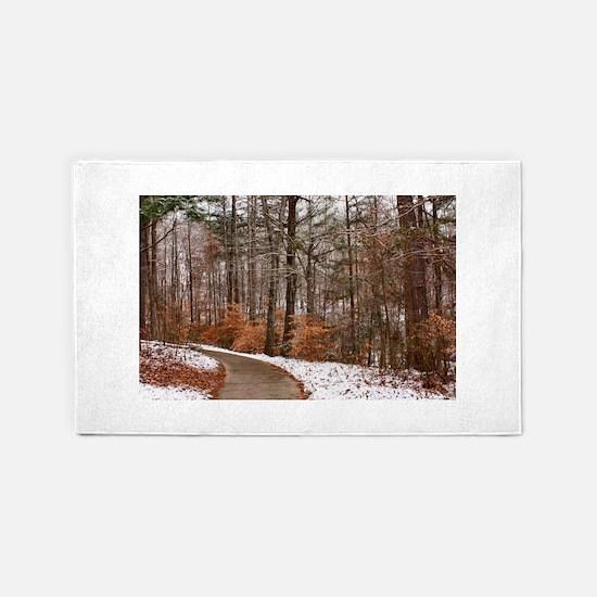 winter/autumn woods 3'x5' Area Rug