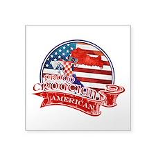 Proud Croatian American Sticker