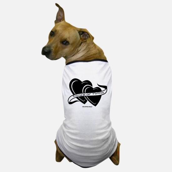 Sister Of Twins (hearts) Dog T-Shirt