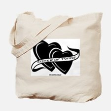 Sister Of Twins (hearts) Tote Bag