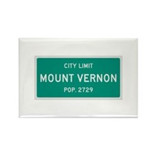 Mount Vernon, Texas City Limits Rectangle Magnet