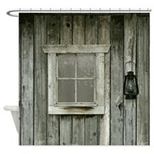 Old wood cabin Shower Curtain