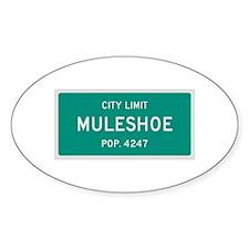 Muleshoe, Texas City Limits Decal