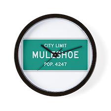 Muleshoe, Texas City Limits Wall Clock