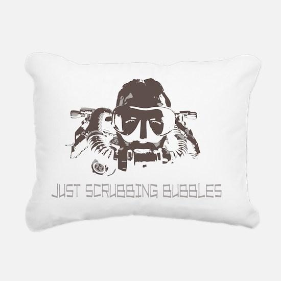Cute Rebreather scuba Rectangular Canvas Pillow
