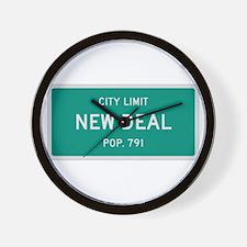 New Deal, Texas City Limits Wall Clock