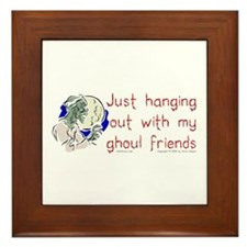 Hanging With Ghouls Framed Tile