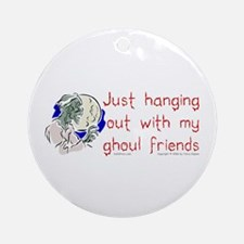 Hanging With Ghouls Ornament (Round)