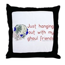 Hanging With Ghouls Throw Pillow
