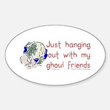 Hanging With Ghouls Oval Decal