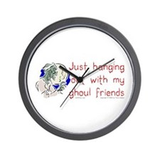 Hanging With Ghouls Wall Clock