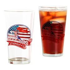 Proud Croatian American Drinking Glass