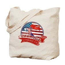 Proud Croatian American Tote Bag