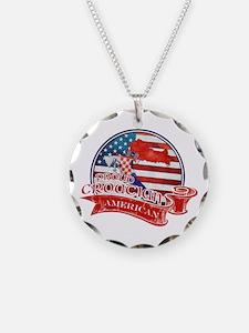 Proud Croatian American Necklace