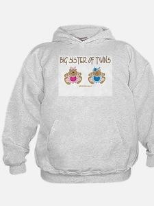 Big Sister Of Twins (boy/girl) Hoodie