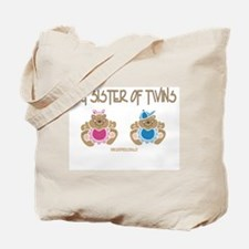 Big Sister Of Twins (boy/girl) Tote Bag