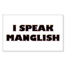 I Speak Maglish! Rectangle Decal