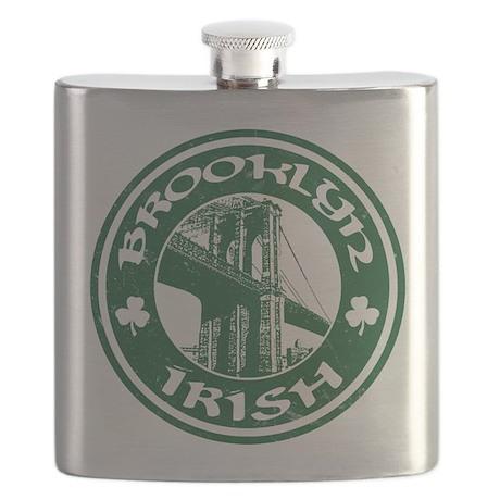 Brooklyn NY Irish Flask