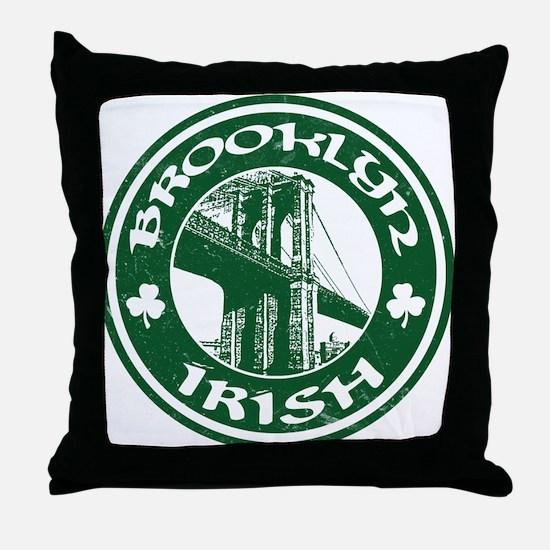 Brooklyn NY Irish Throw Pillow