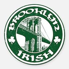 Brooklyn NY Irish Round Car Magnet