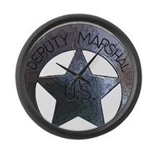 Deputy Marshal U.S. Large Wall Clock