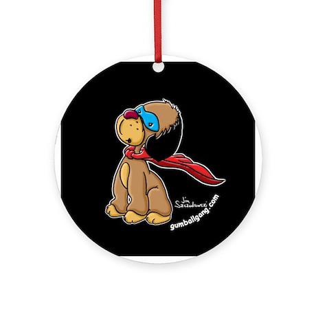 Drizzle the super hero dog! Ornament (Round)