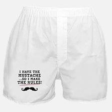 Mustache Rules Boxer Shorts