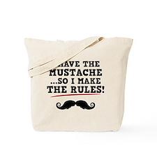 Mustache Rules Tote Bag