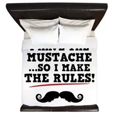 Mustache Rules King Duvet