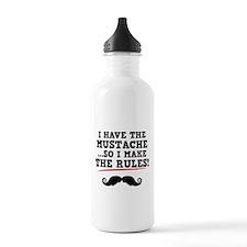 Mustache Rules Water Bottle