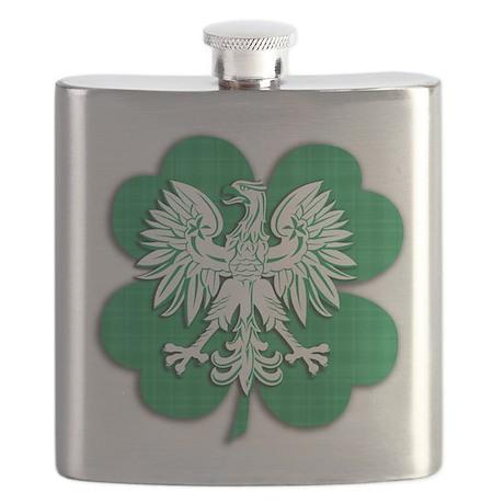 Irish Polish Shamrock Eagle.png Flask