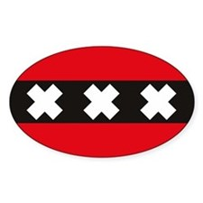 Amsterdam Flag Rectangle Decal
