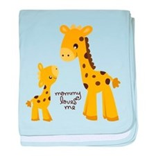 Mother and child Giraffe baby blanket