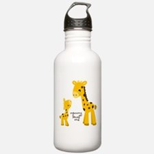 Mother and child Giraffe Water Bottle