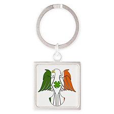 Irish American Eagle (sc) Square Keychain