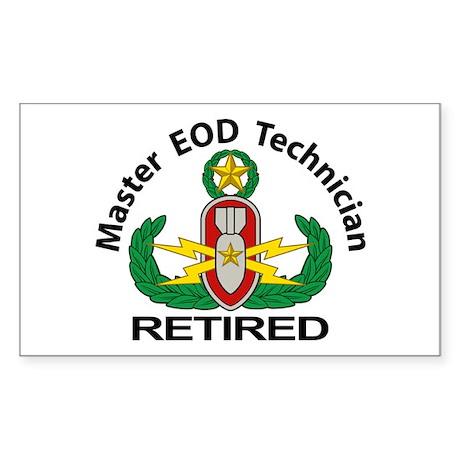 Retired Master EOD Sticker (Rectangle)