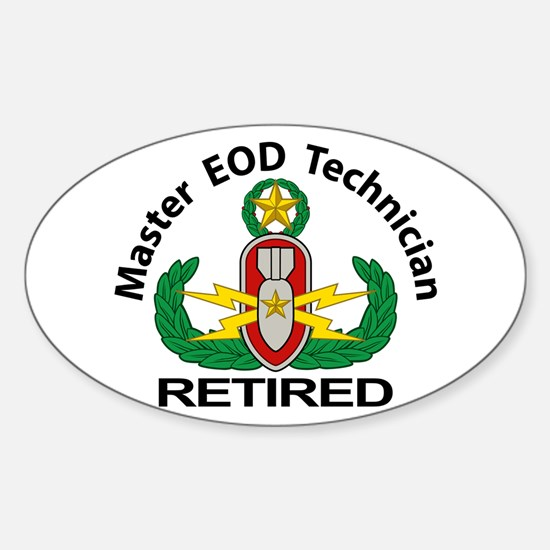 Retired Master EOD Sticker (Oval)
