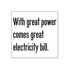 Electric Bill Sticker