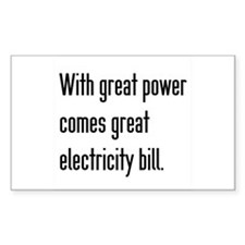 Electric Bill Decal