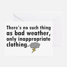 'Bad Weather' Greeting Card