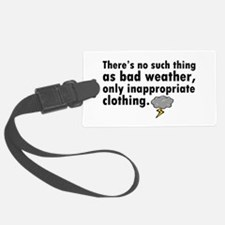 'Bad Weather' Luggage Tag